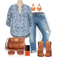 Summer Blues - Plus Size, created by alexawebb on Polyvore