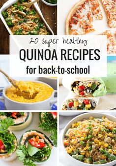 20 super healthy QUINOA recipes perfect for back-to-school time! From breakfast, lunch, snacks and dinner | simplyquinoa.com