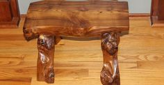 My husband, Randy made this bench out of our huge, old Mulberry tree that was brought down during a storm. Randy collects antique tools so he decided to use ONL…