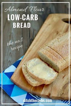 LOOK at how easy this healthy low-carb almond flour bread recipe is to make. Gluten free, grain free and healthy family recipe. | ditchthecarbs.com