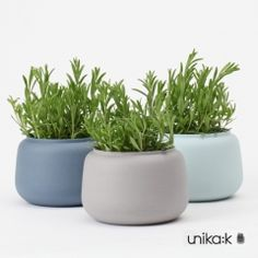 Ditte Fischer - Keramik håndlavet bred vase, mørkeblå