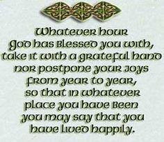 An Irish Blessing- wishing you a happy life!