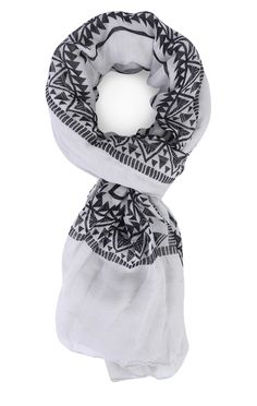 Deb Shops Woven Scarf with Tribal Border Print $9.00