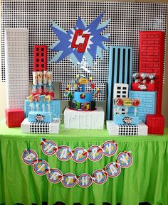 Partylicious E's Birthday / Super Heroes - Marvelous Superhero Birthday at Catch My Party Avengers Birthday, Superhero Birthday Party, 4th Birthday Parties, Boy Birthday, Happy Birthday, Birthday Ideas, Spider Man Party, Avenger Party, Superman Party