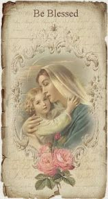 Design Free digital vintage stuff: Be Blessed Vintage Holy Cards, Images Vintage, Vintage Pictures, Vintage Postcards, Blessed Mother Mary, Blessed Virgin Mary, Be Blessed, Religious Pictures, Religious Art