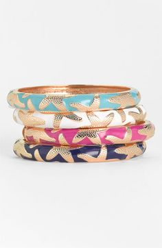 Sequin Small Starfish Enamel Bangle | Nordstrom