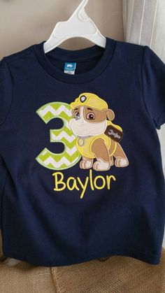 Hey, I found this really awesome Etsy listing at https://www.etsy.com/listing/235043068/paw-patrol-birthday-shirt-rubble-paw