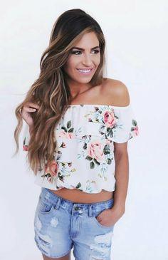 Cute flower top