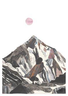 K2 mountain art illustration A3 Print 11.69 in x by Chris Hagan!