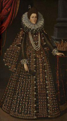 Tiberio Titi - Ritratto di Maria Maddalena d'Austria, granduchessa di Toscana,  moglie di Cosimo II de' Medici - Museo del Tesoro di Santa Maria all'Impruneta