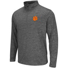 Clemson Tigers Colosseum Performance 1/4-Zip Pullover Jacket - Heathered Gray - $44.99