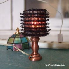 Here's a neat trick for making lampshades from hair rollers.