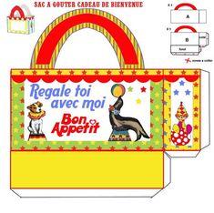 SAC_A_GOUTER Printable Box, Printables, Free Boxes, Ephemera, Toy Chest, Storage Chest, Place, Prints, Kids