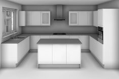 U Shaped Kitchen Island Design