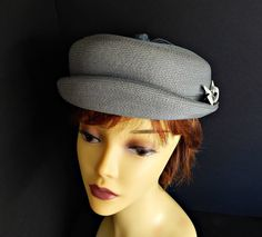 Gray Hat Rolled Brim Breton Slouchy Woven Straw by EclecticVintager on Etsy  https    348d9970b8a3