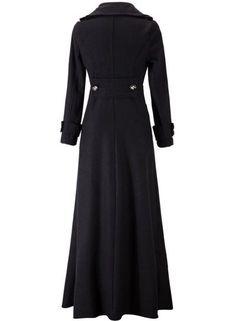 Women's Fashion Long Sleeve Floor Length Long Trench Coat - OASAP.com