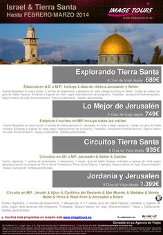 Israel: BOLETÍN ofertas hasta Febrero  2014. Estancias y circuitos desde 689€ - http://zocotours.com/israel-boletin-ofertas-hasta-febrero-2014-estancias-y-circuitos-desde-689e/