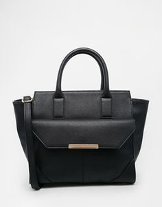 ASOS Winged Tote Bag With Pocket Detail