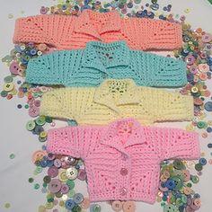#haken, gratis patroon (Engels), prematuur, baby, jasje, #haakpatroon (div. maten), #crochet, free jacket, preemie, hexagon, phototutorial