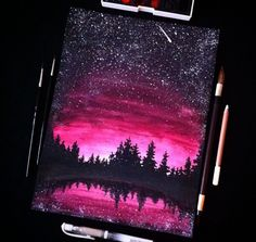 Beautiful Art Drawings Love New Ideas Kunst Inspo, Art Inspo, Oil Pastel Art, Oil Pastels, Pastel Artwork, Art Watercolor, Galaxy Art, Pink Galaxy, Love Art