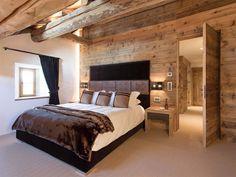 View full picture gallery of Chesa Maria - La Punt St. Dream Bedroom, Master Bedroom, Bedroom Decor, Chalet Design, House Design, Chalet Interior, Interior Design, Restoring Old Houses, Barn Bedrooms