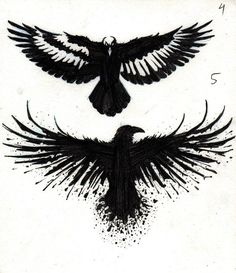 Crow Tattoo Designs by marcAhix.deviantart.com on @DeviantArt