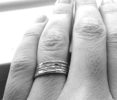 The Super Skinny Five Ring Stack Five Sterling by GirlBurkeStudios, $30.00
