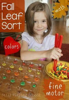 We are celebrating Fall with fine motor autumn leaf sorting! It's a fun way for kids to play while working on early math concepts.
