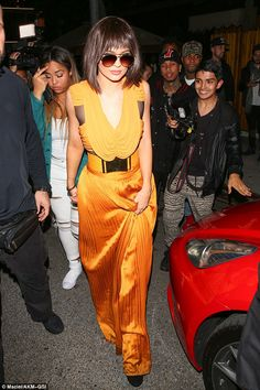 Kylie arriving at Kendall's 20th birthday party