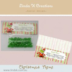 Grinch Pills - attach to green jellybeans, tic tacs or m&ms. Great for class group Christmas gift.  Instant download.