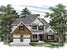 Eplans New American House Plan - This Home Is Very Promising - 1786 Square Feet and 3 Bedrooms(s) from Eplans - House Plan Code HWEPL08106