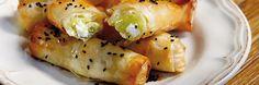 Μπουρεκάκια με πράσο και ανθότυρο Kai, Sushi, Ethnic Recipes, Food, Eten, Meals, Sushi Rolls, Diet