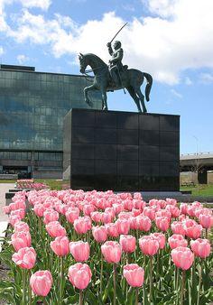 Parc de l'Amérique-Latine : le monument Bernardo O'Higgins. - Photo : CCNQ, Denis Lemelin Parcs, Photos, Concert, Equestrian Statue, Latin America, Spaces, History, Pictures, Recital
