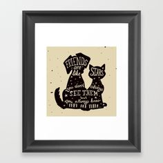 """Pets = Real Friends Framed Art Print The Scoop frame is made from solid wood with a contemporary, scooped profile measuring 1.06"""" wide x 1.06"""" deep. A gesso coating gives the moulding rich color and a smooth finish. Premium shatterproof acrylic protects the art print, while an acid free dust cover on the back provides a custom finish. Includes wall hanging hardware."""