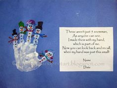 handprint and footprint christmas crafts | Handprint and Footprint Arts & Crafts: Christmas/Winter ... | Christm ...