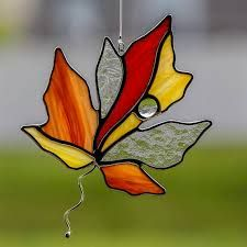 Image result for stained glass leaf