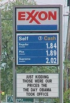 Context is important, folks. Don't be a tool for anyone. Also, gas went over $2 a gallon in Cali in 2003. Where was this $1.84?!