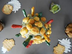 Philippe GODDERIDGE / choux farcis sur terre cuite