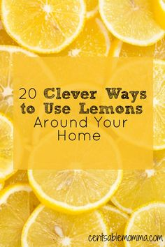 20 Clever Ways to Use Lemons Around Your Home Think that lemons are just for lemonade or flavoring water? Think again! Check out these 20 clever ways to use lemons around your home – from cleaning to hair care to skin care and Homemade Cleaning Products, Cleaning Recipes, House Cleaning Tips, Natural Cleaning Products, Cleaning Hacks, Lemon Uses, Chemical Free Cleaning, Natural Cleaners, Diy Home