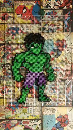 The Incredible Hulk perler beads by sanzosgal