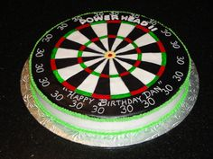 Dart Board 30th Birthday Cake
