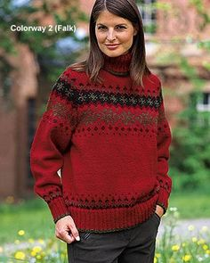 Dale of Norway sweater ~ love these colours combined together