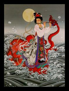 Chinese art - girl w