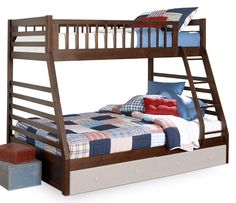 Relive your childhood by putting your kids into Leon's bunk beds. Leon's kids' bunk beds are suited for both boys and girls. Bunk Beds With Drawers, Bunk Beds With Storage, Bunk Beds With Stairs, Bed Storage, Storage Drawers, Bedroom Storage, Storage Boxes, Kids High Beds, Kids Bunk Beds