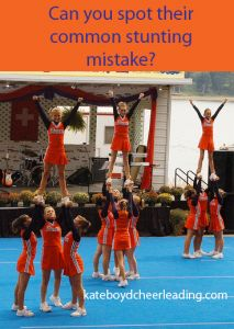 How to spot the most common #cheerleading #stunt mistake. | kateboydcheerleading.com