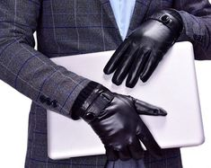 Shop for Men's Touchscreen Lambskin Leather Gloves Snug Cuffs - Black - Discover the newest styles Men's Cold Weather Gloves up to off. Leather Driving Gloves, Leather Gloves, Best Winter Gloves, Glove Liners, Cold Weather Gloves, Long Gloves, Dress Gloves, Knitted Gloves, Lambskin Leather