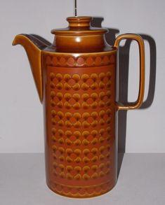 Vintage Retro HORNSEA  Large Coffee Pot in SAFFRON Design 1975