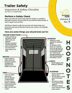 Trailer safety checklist