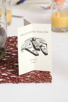 This couple managed to incorporate all the geeky things they love about each other into a tasteful wedding - cheers!