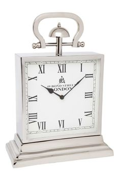 Decorative Wall Clocks for Sale - James Street Clock - Large Antique Brass Steel and aluminium Carriage Clock finished in two tone Polished Brass and Brown Antique Finishes. Mantel Clocks, Clock Decor, Wall Clocks, Mantle, Traditional Clocks, Carriage Clocks, Clocks For Sale, Interiors Online, Mirrored Furniture